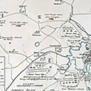 Boston-concord Map, 1775 Poster