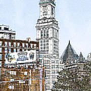 Boston Custom House Tower Poster
