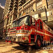 Boston Fire Truck  Poster