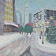 Boston First Snow Poster