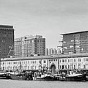 Boston Fishing Fleet Poster