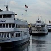 Boston Harbor Cruise Three In A Row Poster