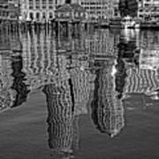 Boston Harbor Reflections Poster