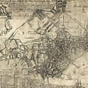 Boston Of British Dominion Map  1769 Poster