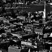 Boston Old North Church Black And White Poster