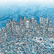 Boston Panorama Abstract 2 Poster