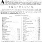 Boston Procession, 1789 Poster