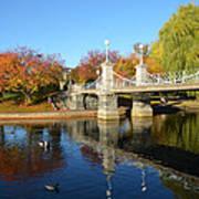 Boston Public Garden Autumn Poster