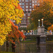 Boston Public Garden Lagoon Bridge Poster