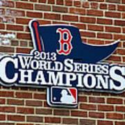 Boston Red Sox World Champions Poster