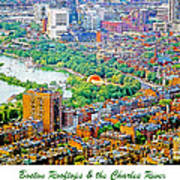 Boston Rooftops And The Charles River Poster