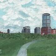 Boston Skyline 1968 Poster
