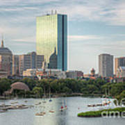 Boston Skyline I Poster by Clarence Holmes
