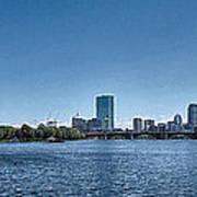 Boston Skyline II Poster