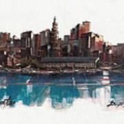 Boston Skyline  Number 1 Poster