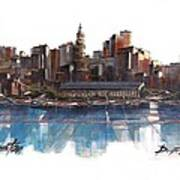 Boston Skyline  Number 3 Poster