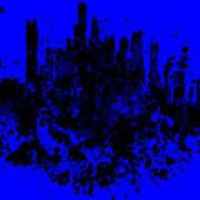 Boston Skyline Paint Splash 2 Poster