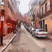 Boston Streets 1 Poster by Yury Malkov