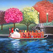 Boston Swan Boat Poster