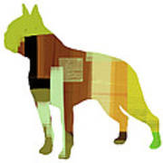 Boston Terrier Poster by Naxart Studio