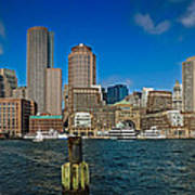 Boston Waterfront Skyline Poster