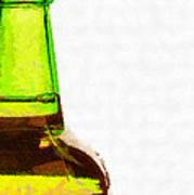 Bottle Neck Against White Painting Poster