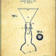 Bottle Neck Patent From 1891 - Vintage Poster