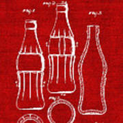Bottle Support Patent Drawing From 1937 3 Poster