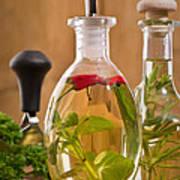 Bottles Of Olive Oil Poster