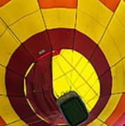 Bottoms Up Hot Air Balloon Poster