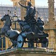 Boudicca Statue And Parliament 5805 Poster