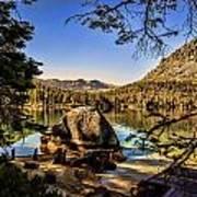 Boulder At Fallen Leaf Lake Poster