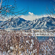 Boulder Colorado Winter Season Scenic View Poster
