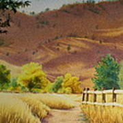 Boulder Foothills In Autumn Poster