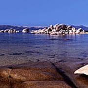 Boulders At The Coast, Lake Tahoe Poster