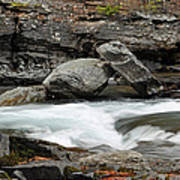 Boulders In Mcdonald Creek Poster