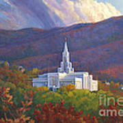 Bountiful Temple In The Mountains Poster