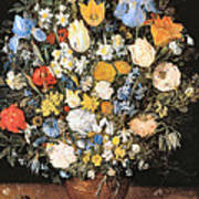 Bouquet In A Clay Vase Poster
