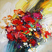 Bouquet Of Poppies Poster