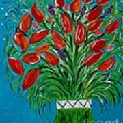 Bouquet Of Red Poster