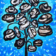 Bouquet Of White Poppies Poster