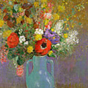 Bouquet Of Wild Flowers  Poster by Odilon Redon