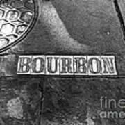 Bourbon Mono Poster