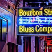 Bourbon Street Blues Poster