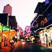 Bourbon Street Early Evening Poster