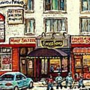 Boutique Mary Seltzer Dress Shop Cote St Luc Montreal Paintings Hockey Art City Scenes Cspandau Poster