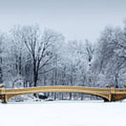 Bow Bridge In Central Park Nyc Poster
