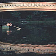 Bow Bridge Rowboat Central Park Poster