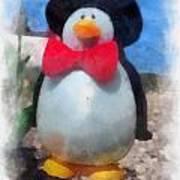 Bow Tie Penguin Photo Art Poster