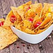 Bowl Filled With Nachos Poster